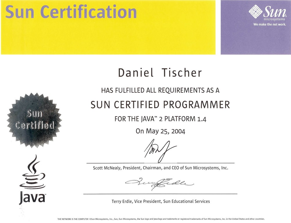 Certifications for Certified architect
